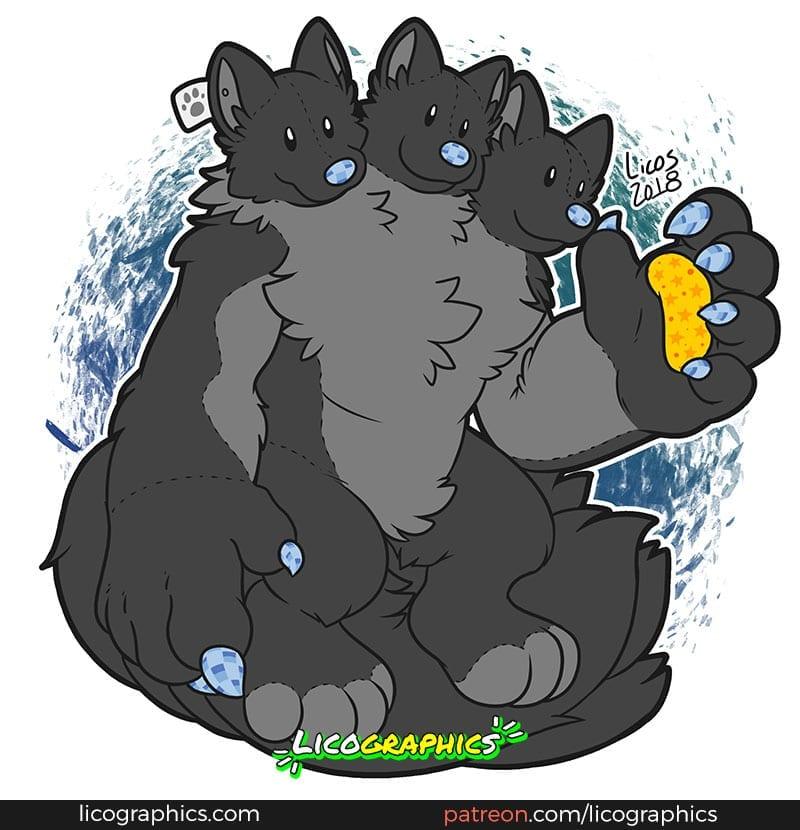 blacktaur-march-patreon-reward-giant-cerberus-werewolf-plush-web